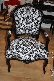 damask chair black damask chair louis black and white damask shabby
