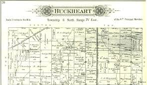 Illinois Map By County by 1895 Atlas Of Fulton County Illinois Buckheart Township