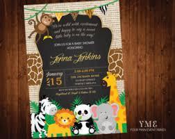 safari jungle baby boy shower invitation zazzle