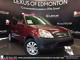 honda cr v vs lexus used 2005 red honda cr v 4wd ex auto in depth review edmonton
