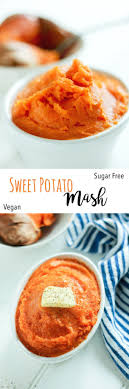sweet potato mash raising sugar free