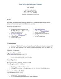 Receptionist Resume Cover Letter Receptionist Cover Letter For Resume Awesome Collection Of Sle