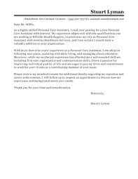 Pca Cover Letter best personal care assistant cover letter exles livecareer