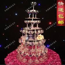 wedding supply 5 tier wedding chagne tower wedding supply props aryclic clear