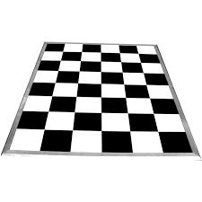 black and white portable interlocking flooring
