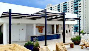 Metal Pergola Frame by Bi Level Metal Frame Canvas Roof