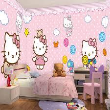 Aliexpresscom  Buy Custom Any Size D Cartoon Cat Wall Mural - Girls bedroom wall murals