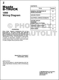 1999 mazda b4000 b3000 b2500 pickup truck wiring diagram manual