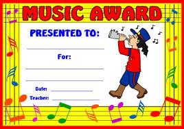 art and music award certificates