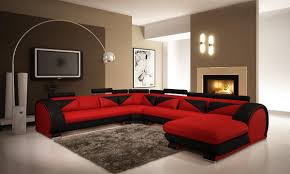 Black Modern Living Room Furniture Red Leather Sectional Red Leather Sectional Sofa Large Size Of