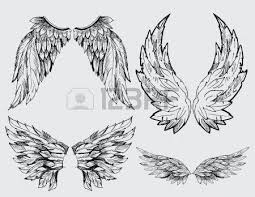 wings set royalty free cliparts vectors and stock illustration