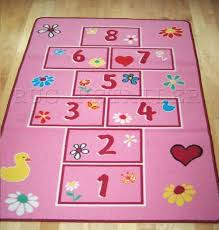 hopscotch pink rugs childrens u0026 kids play mat