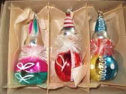 kurt adler vintage glass colorful clown ornaments