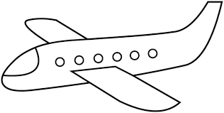 simple airplane coloring pages google face paint