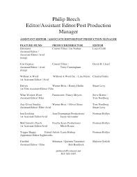 Production Resume Examples by Resume Editor 20 Assistant Editor Resume Samples Uxhandy Com