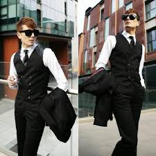 2015 new top design mens double breasted casual suit tuxedo dress