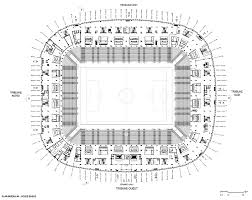 stadium floor plan multi purpose venue grand stade de lille métropole detail