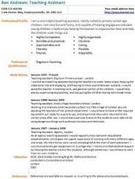 Examples Of Resume For Teachers by Teaching Assistant Cv Example Learnist Org