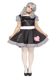 Elvira Size Halloween Costume Broken Doll Size Women Costume Scary Costumes