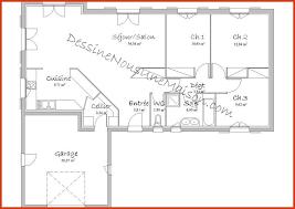 plan maison 3 chambres plain pied plan de maison plain pied gratuit 3 chambres plan de maison