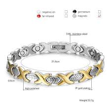 germanium magnetic health bracelet images Fashionable magnetic and germanium therapy bracelet for women jpg