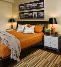 Eclectic Decorating by Bungalow Decorating Pictures Bedroom Eclectic With Orange
