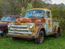 rusty pickup truck old 1950 rusty b model dodge five window pickup truck flickr