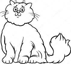 persian cat cartoon coloring page u2014 stock vector izakowski 18263835