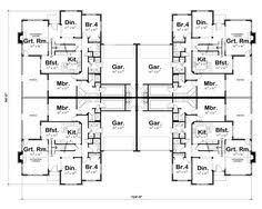 Multi Family Home Floor Plans Plan 18511wb 8 Unit House Plan With Corner Decks Family House