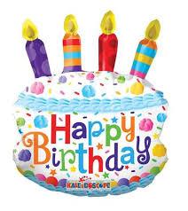 birthday balloons 14 mini birthday cake shape 1ct