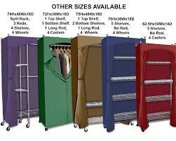 amazon com portable wardrobe closet w premium cotton canvas duck