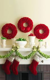 interior surprising details of white and red christmas