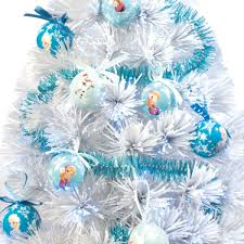 60cm frozen white fibre optic christmas tree