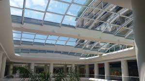 innovative retractable glass roof can convert a mall into an