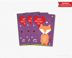 s day cards for kids fox valentines cards printable fox valentines day cards classroom