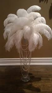 Ostrich Feather Centerpiece How To Make Feather Centerpieces We Could Replace The Ostrich