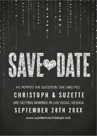 save the date sts shimmering sparkle save the date black and white