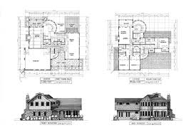 collections of house plans with elevations and floor plans free