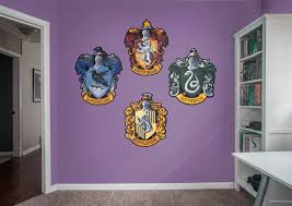 hogwarts house sigils wall decal shop fathead for harry potter