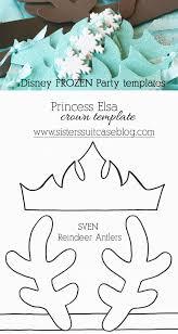frozen elsa crown template u0026 sven antler template