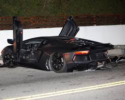 crashed lamborghini chris brown u0027s lamborghini aventador crashed and abandoned in