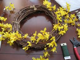 forsythia wreath whimsical forsythia wreath burger
