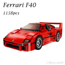 model f40 2017 f40 sports car 10248 building blocks model for children