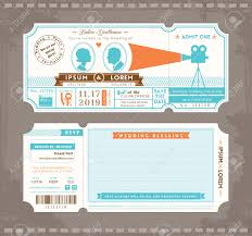 Pinterest Invitation Cards Movie Ticket Wedding Invitation Template Free Google Search