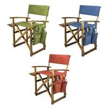 Folding Directors Chair With Side Table Picnic Time Folding Director Chair With Side Table