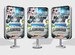 outdoor advertising displays mock up products mock up