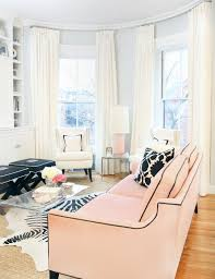 Expensive Living Room Curtains Mo Pink Please Living Rooms Erin Gates And Pink Sofa