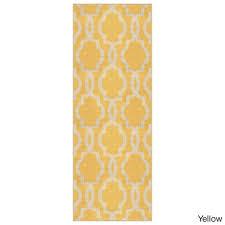 fancy moroccan trellis non slip runner rug rubber backed 22