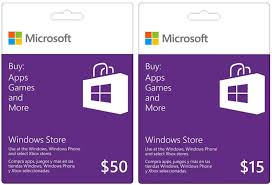 apps for gift cards will xbox gift cards work with the windows store for the surface pro