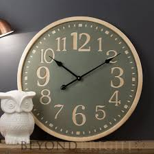 60cm timber wooden rustic vintage wall clock perfect for the home